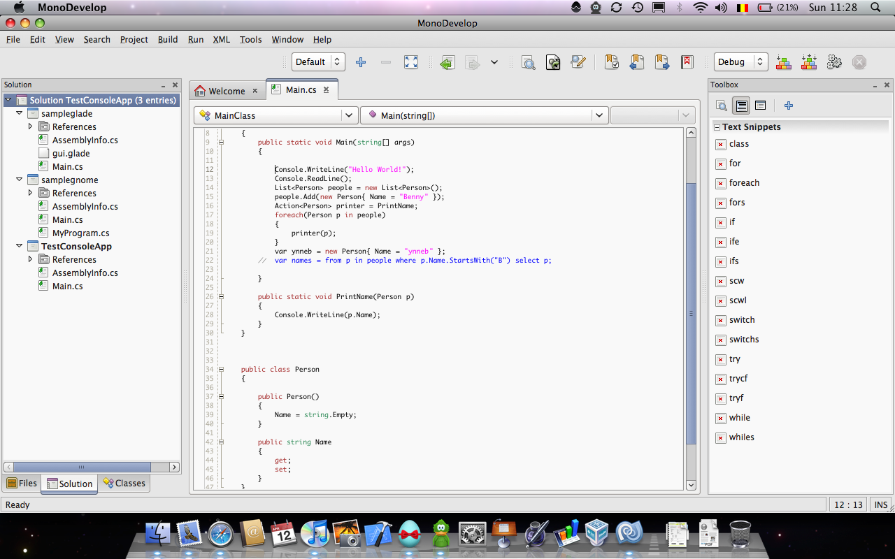 monodevelop mac